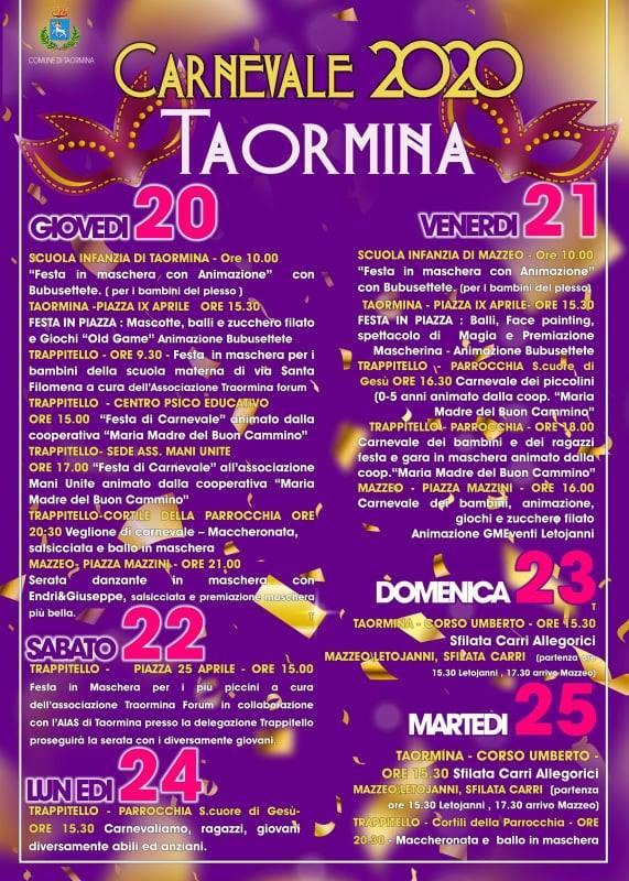 Carnevale di Taormina 2020